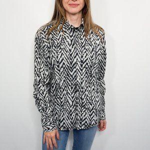 KRIS VAN ASSCHE Zebra Button-Down Cotton Shirts